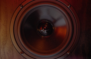 Close Up of Speaker